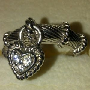 Heart Dangle Ring Size 6